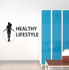 Vinyl Wall Decal Home Female Gym Healthy Lifestyle Fitness Woman Girl Wallstickers4you