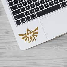 Amazon Com Die Cut Vinyl Decal Sticker Triforce Logo The Legend Of Zelda For Macbook Laptop Trackpad Keyboard Gold Kitchen Dining