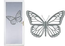 Butterfly Diy Etched Glass Vinyl Window Film Privacy Shower Door Bathroom Decals Front Door Window Dressing Etched Glass Vinyl Window Vinyl Glass Decals