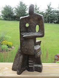 Vintage CUBIST Era Bronze Sculpture IVY NEWMAN STEELE Chicago Artist  ABSTRACT | #947090751