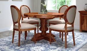 clark 4 seater round dining set