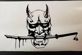 Oni Samurai Japanese Demon Jdm Vinyl Decal Sticker Truck Bumper Wall Window Ebay