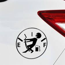 Car Sticker Fuel Gauge Empty Stickers High Consumption Gas Decal Vinyl Funny Car Styling Cartoon Graphic Car Stickers Aliexpress