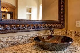 gorgeous bathroom vessel sink flowers