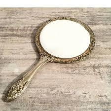mirror silver plated handheld mirror