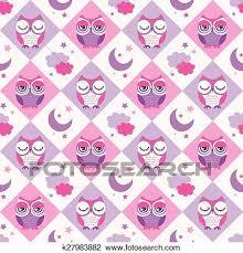 seamless owls wallpaper pattern clipart