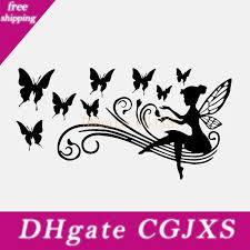 2020 17 1cm 8 9cm Fairy Butterfly Vinyl Decal Fashion Personality Creativity Classic Attractive Personalized Car Sticker From Kaimeila 4 3 Dhgate Com