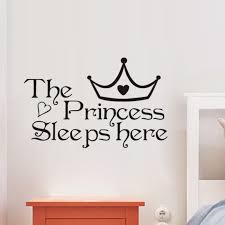 The Princess Sleeps Here Black Wall Stickers For Kids Rooms Bedroom Home Decor Vinyl Wall Decals Art Girl S Gifts Leather Bag