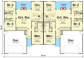 plan 62610dj modest ranch duplex house
