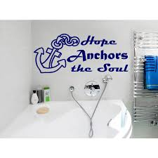 Shop Quote Hope Anchors The Soul Wall Art Sticker Decal Blue Overstock 11930800