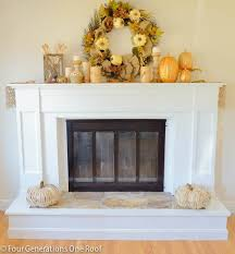 fireplace makeover before after