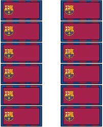 Aquarelinha Kit Futebol Barcelona Invitaciones De Cumpleanos