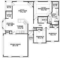 bedroom house floor plans single story