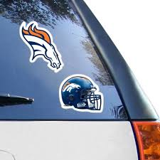 Denver Broncos 2 Pack 4 X 4 Die Cut Decals