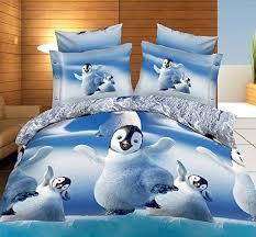 penguin bedding cute bed bed sheet set