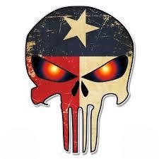 Punisher Skull Texas Flag Demon Eyes Vinyl Sticker Waterproof Decal Sticker 5 Walmart Com Walmart Com