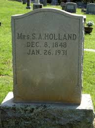 Sarah Adeline Robinson Holland (1848-1931) - Find A Grave Memorial