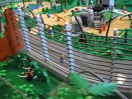 Electric Fence In The Jurassic Park Lego Layout Video Dailymotion