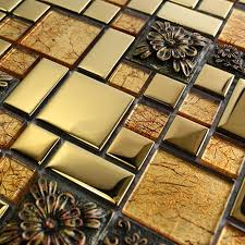 carved resin glass mirror mosaic tiles