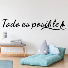 Mega Discount 5a4058 Everything Is Possible Wall Stickers Spanish Inspirational Quotes Teen Room Modern Office Home Decor Vinyl Window Decal Ru184 Cicig Co