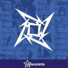 Metallica Ninja Star Decal Car Truck Window Sticker Laptop Vinyl Eccentric Mall