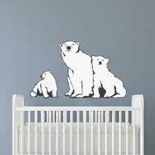 Polar Bear Family Printed Wall Decal