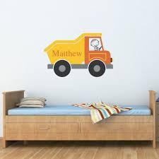 Dump Truck Decal Boy Bedroom Decor Dumptruck Wall Art Etsy Boys Bedroom Decor Art Wall Kids Kids Wall Decals