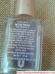 lakmé nail polish remover review notd