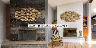painting a mid century modern fireplace