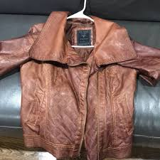 womens brown leather jacket gently warn