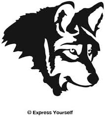 Amazon Com Wolf Profile Black Image Facing As Shown Large Decal Sticker Predator Collection Automotive