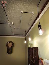 ceiling with your light fixture cords