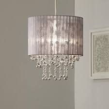 kendra silver grey pendant light shade