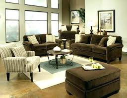 scenic grey curtains and brown sofa
