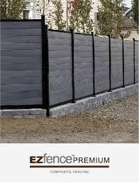 Composite Fencing Ezfence Fence Boards Aluminum Structure