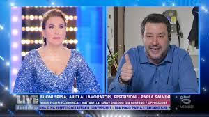 Matteo Salvini - MATTEO SALVINI A NON È LA D'URSO (CANALE 5, 29.03 ...