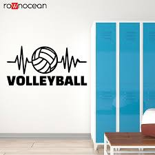 Love Volleyball Game Sport Ball Signboard Pulsation Stickers Vinyl Wall Decal Stadium Decor Teen Bedroom Removable Mural 3457 Wall Stickers Aliexpress