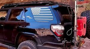 2010 2020 Toyota 4runner Quarter Window American Flag Decal Sticker Matte Black Ebay