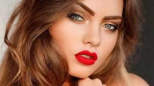 red lipstick perfectly makeup tutorial