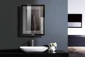 led mirrors contemporary bathroom