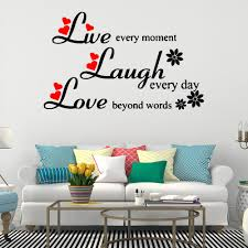 Live Laugh Love Quotes Wall Sticker Wall Decorations Living Room Bedroom Stickers Mural Home Decorations Removable Wall Decals Decorative Stickers Decorative Stickers For The Wall From Joystickers 12 21 Dhgate Com