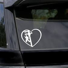 Auto Parts And Vehicles White Vinyl Decal Lineman S Wife Heart Linemen Love Cute Car Truck Suv Laptop Car Truck Graphics Decals