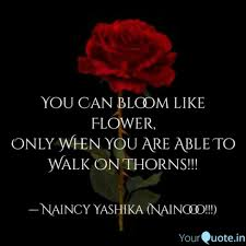 you can bloom like flower quotes writings by naincy yashika