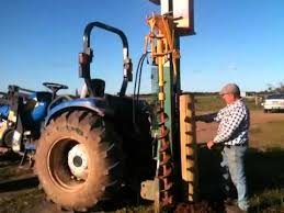 Munro Fence Post Driver Orrvale August 2012 Youtube
