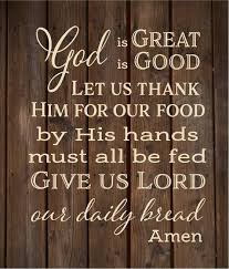 God Is Great God Is Good Thank Him For Food Kitchen Wall Decal Rustic Decor