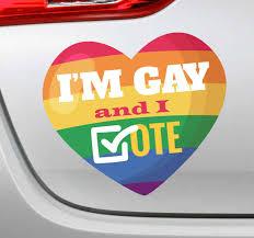 Rainbow Votes Gay Car Sticker Tenstickers