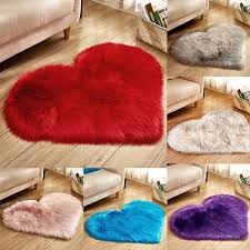 Shaggy Carpet Love Heart Rugs Artificial Wool Sheepskin Hairy Mat Faux Fluffy Mats No Lint Carpet For Living Room Kid Room Rug Aliexpress