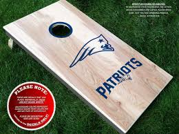 Amazon Com Patriots Cornhole Decals Half Set Color Choice Three Individually Sized Decals Decal Sticker Hub Handmade