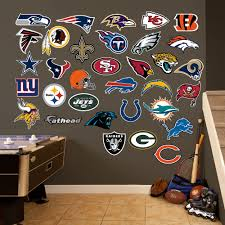 Nfl Logo Collection Football Themed Room Wall Decals Football Wall