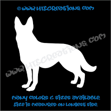 Dog Breed German Shepherd Vinyl Decal Sticker K9 Police Rescue Canine